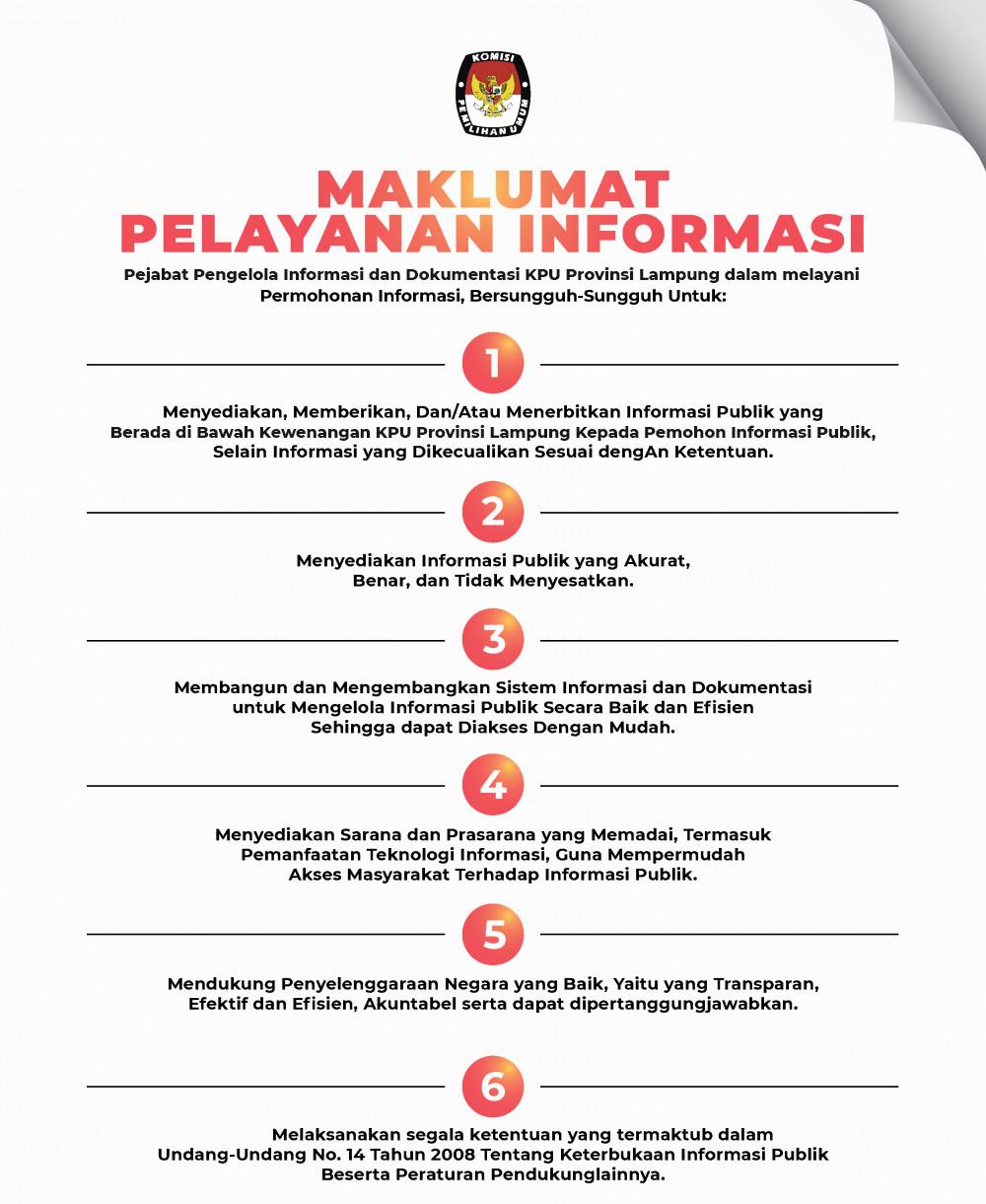 Maklumat PPID KPU Provinsi Lampung