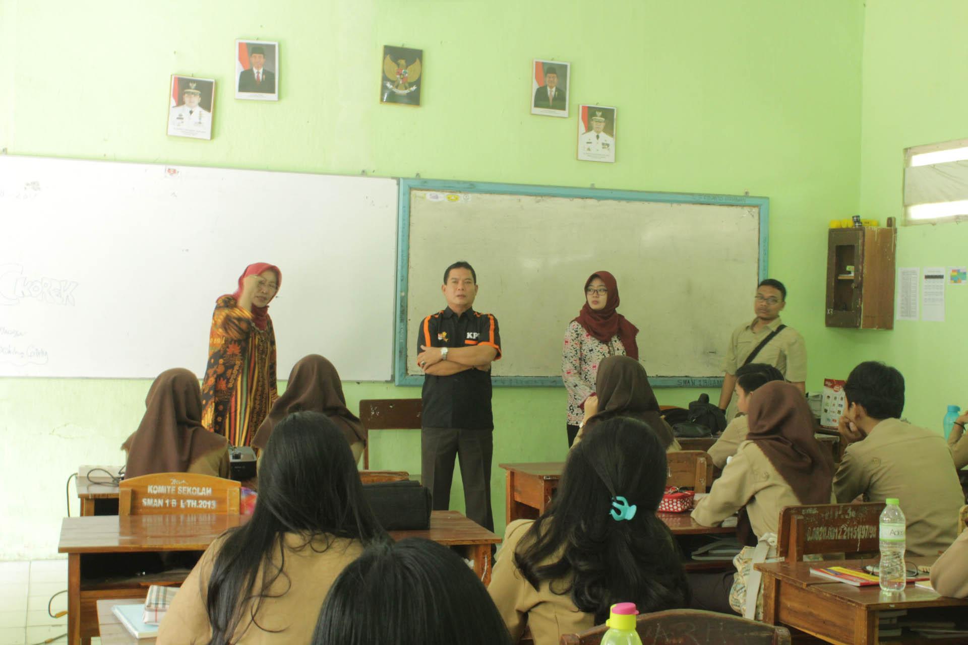 Komunitas Sadar Pemilu di SMAN 1 BDL (11/8/2017)